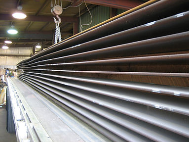 Pile of hi-tensile steel for truck frame fabriction