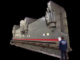 52 ft long, 3000 ton metal forming press brake