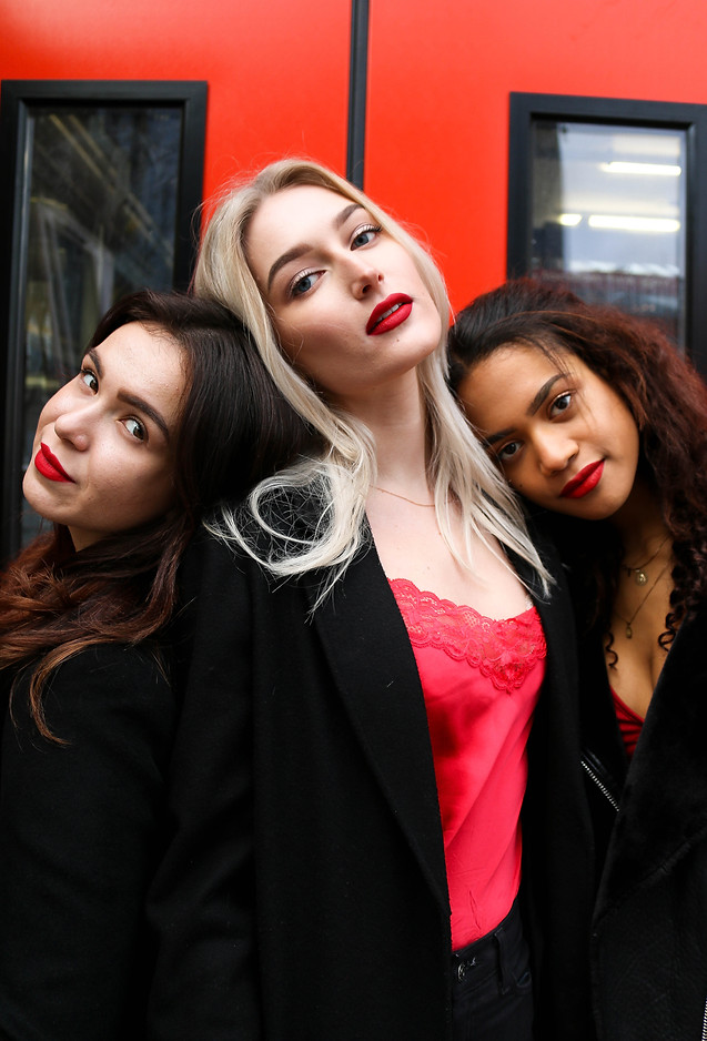 Models: (from left to right) Yulia Sharkova, Galina Kamenskikh, Helen Ifeagwu