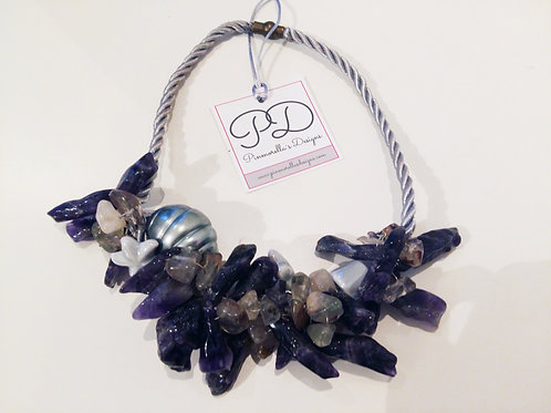 PURPLE  DREAMS NECKLACE // COLLAR SUEÑOS MORADOS