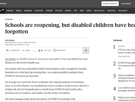 Schools are reopening, but disabled children have been forgotten