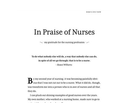 In Praise of Nurses
