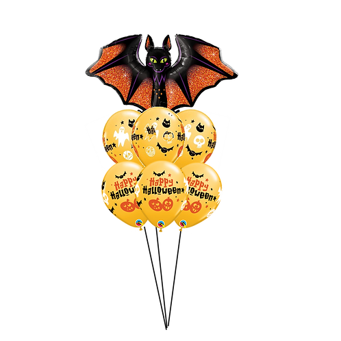 Halloween Bat Balloon Bouquet