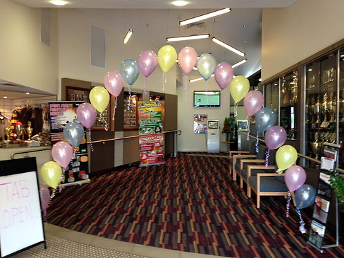 String of Pearl Balloon Arch 6m wide
