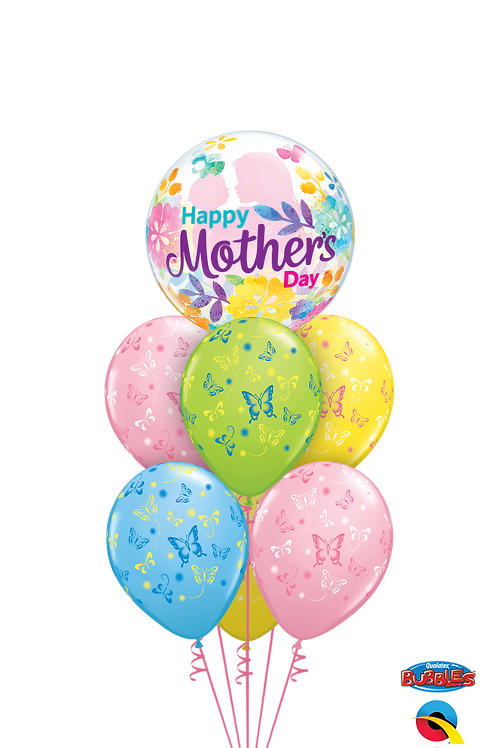Mother's Day Butterflies Balloon Bouquet