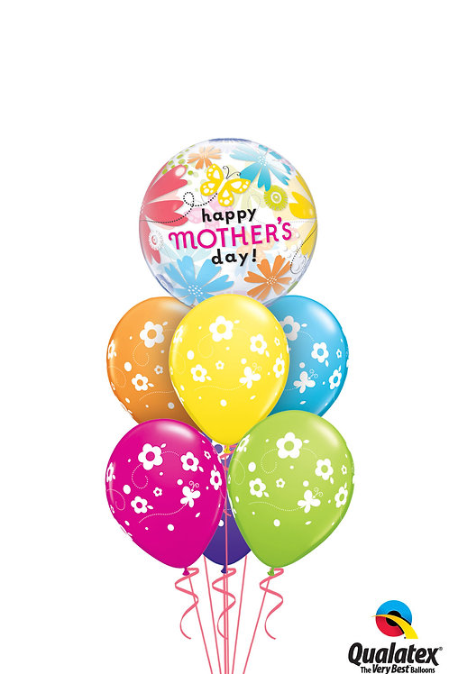 Mother's Day Flowers and Butterfly Balloon Bouquet