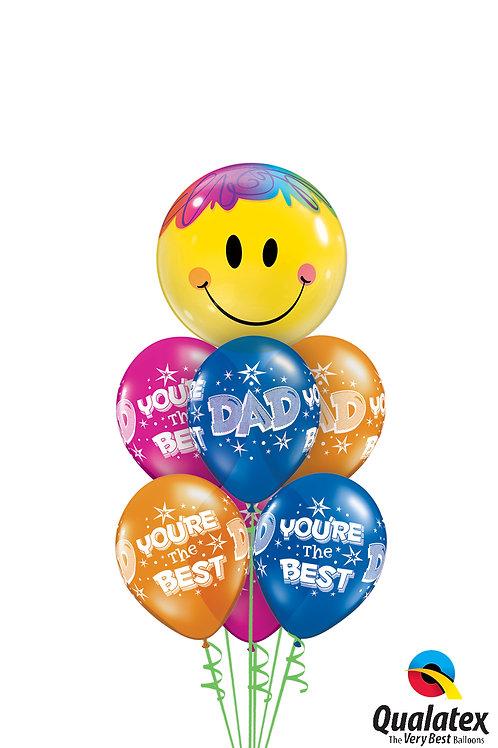 Dad Smiley Face Balloon Bouquet