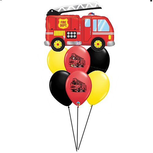 Fire Truck Balloon Bouquet