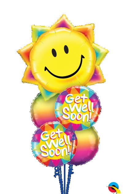 Sending you a Little Bunch of Sunshine Balloon Bouquet