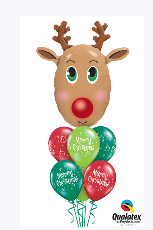 Red-Nosed Reindeer Balloon Bouquet