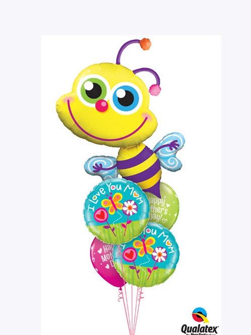 I Love You Mum Bumblebee Balloon Bouquet