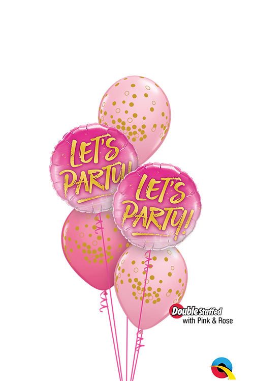 Pink & Rose Let's Party Balloon Bouquet
