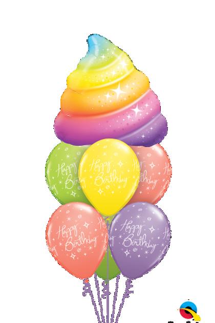 Glitter Poop Birthday Balloon Bouquet