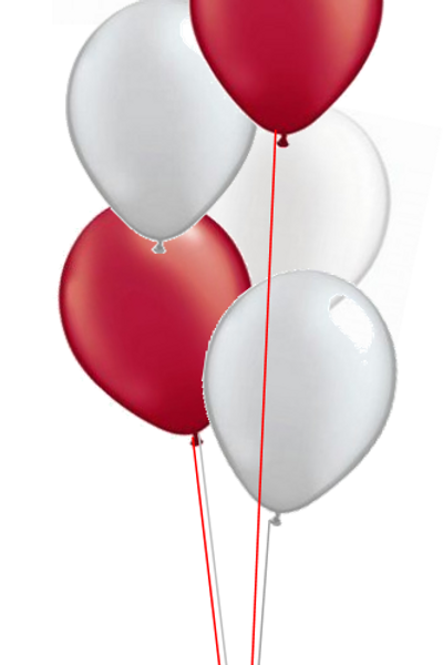 6 Latex Balloons  - Add-on to Foil Balloons Only