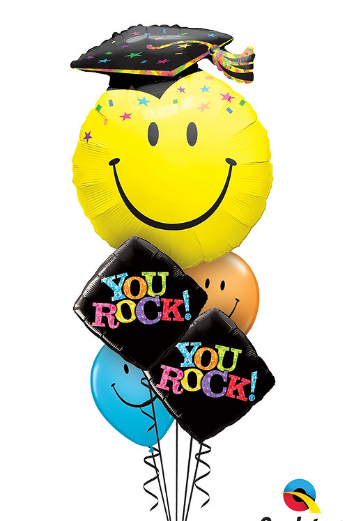 You Rock Graduation Helium Balloon Bouquet
