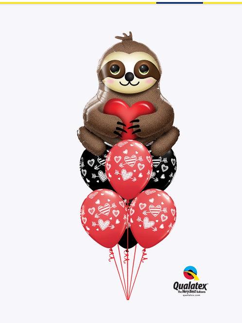 I love you Sloth Balloon Bouquet