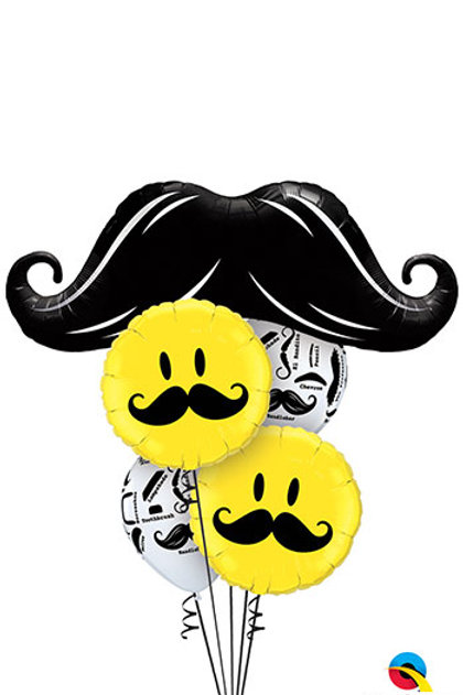 Myriad of Mustaches Balloon Bouquet