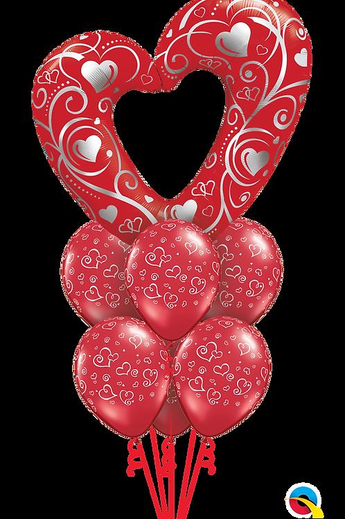 Red Hot Love Balloon Bouquet