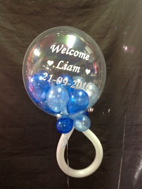 Customized Baby Rattle Balloon - Pinks or Blue