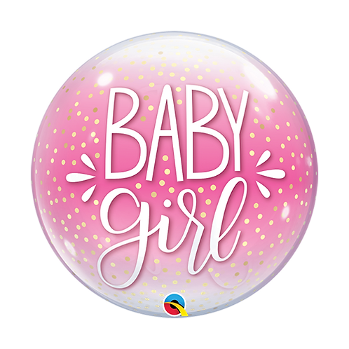 Baby Girl Bubble Balloon in a Box Surprise