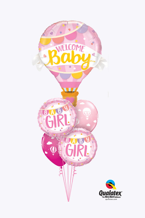 Welcome Baby Girl Hot Air Balloon Bouquet