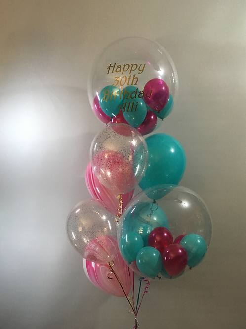 Personalised Bubble Balloon Bouquet