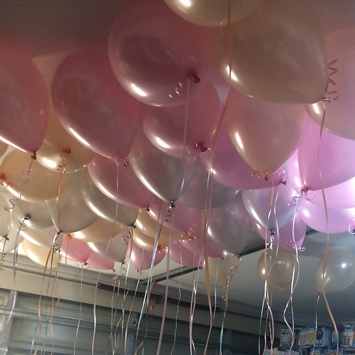 25 Helium Balloons on Ribbon
