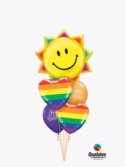 Birthday Sunshine & Rainbows Balloon Bouquet