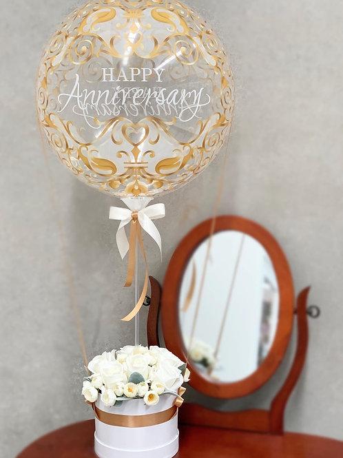 Happy Anniversary Hot Air Balloon