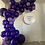 Thumbnail: Mesh Circle Hire, balloon garland and personalized disc