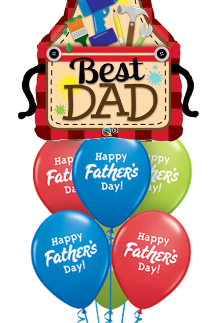 Best Dad Father's Day Balloon Bouquet