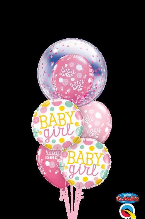 Baby Girl/Boy Polka Dots and Confetti Balloon Bouquet