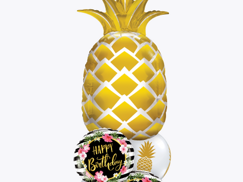 Pineappley  Birthday Balloon Bouquet