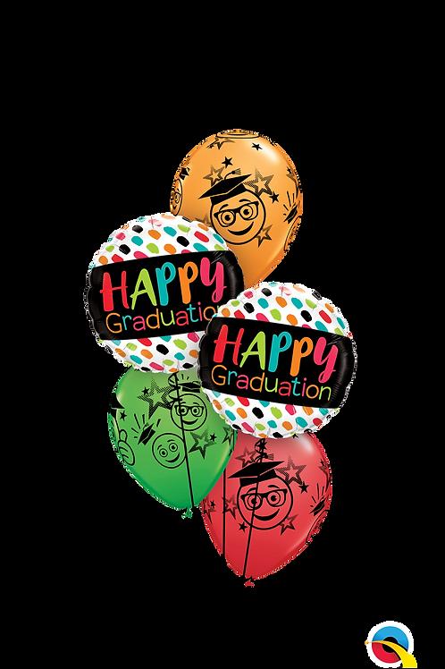 Colourful Grad Smiles Balloon Bouquet