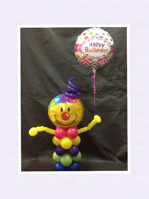 Smilely Man Balloon Delivery