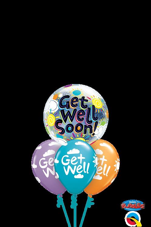 Get Well Soon Sunshine Balloon Bouquet