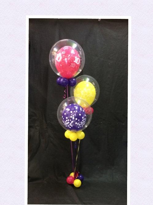 Bright Bubble Balloon Birthday Bouquet