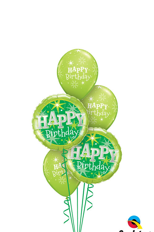 Happy Birthday Sparkle Balloon Bouquet - Colour Options
