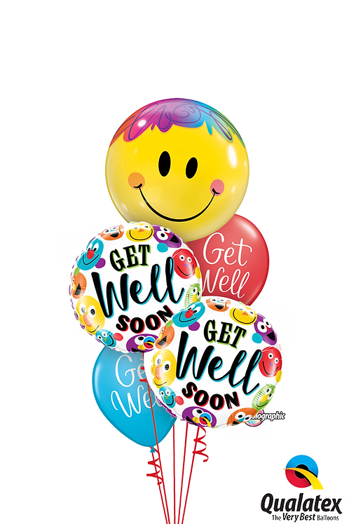 Get Well Soon Smile Balloon Bouquet