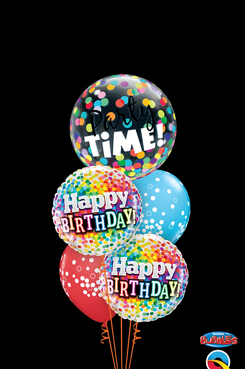 Party Time Birthday Balloon Bouquet