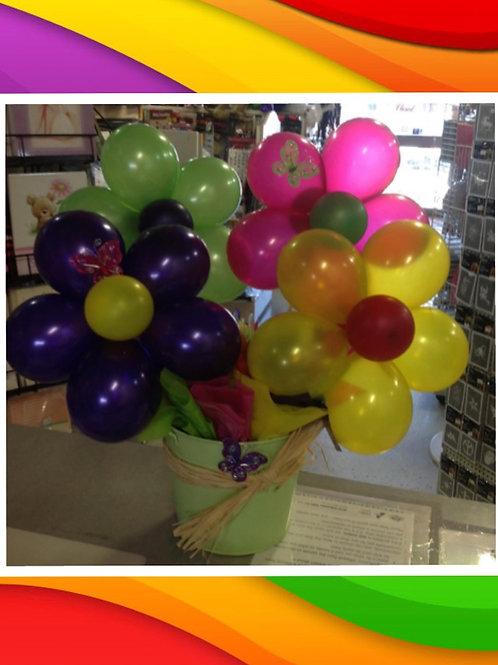 Bright Balloon Flower Pot