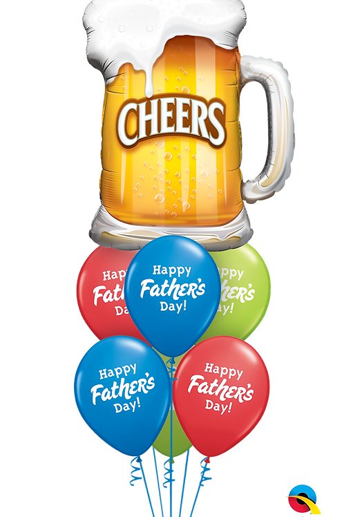 Cheers to Dad Father's Day Balloon Bouquet