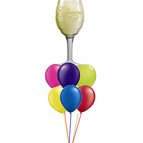 Champagne Glass Balloon Bouquet
