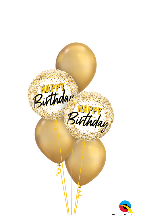 Glamorous Golden Birthday Balloon Bouquet