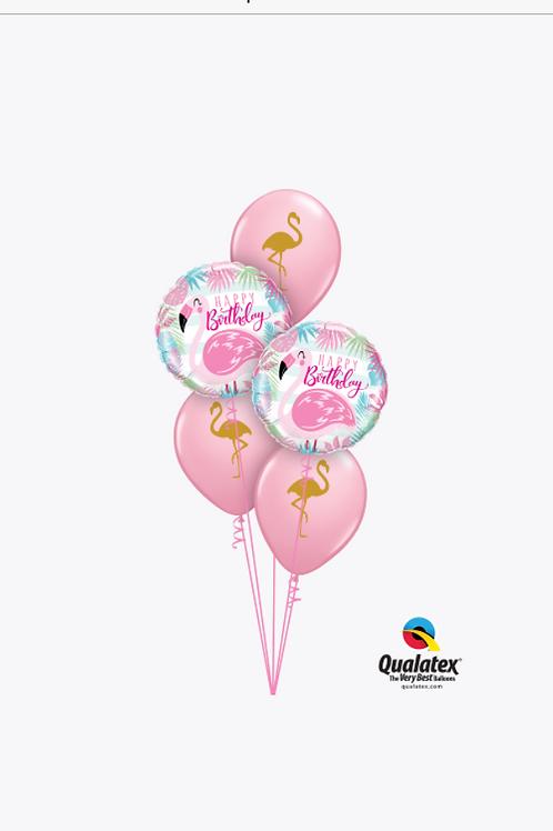 Pink Flamingo Birthday Balloon Bouquet
