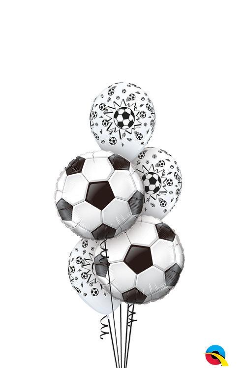 Soccer Burst Balloon Bouquet