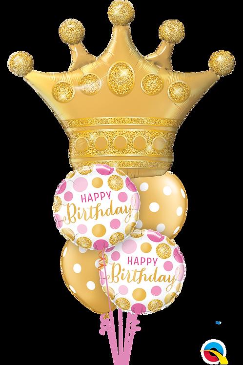 Queen of Birthdays Helium Balloon Bouquet