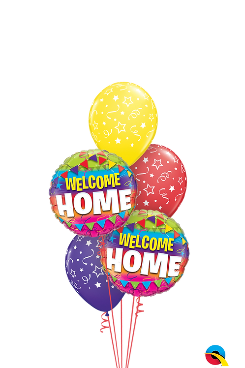 Welcome Home Stars & Bunting Balloon Bouquet