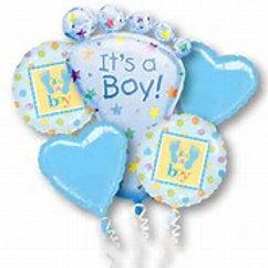 It's a Boy Foot Balloon Bouquet