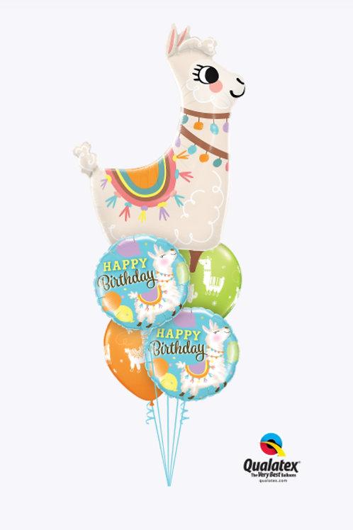 Loveable Llama Birthday Balloon Bouquet